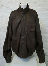 Mens Brown Real Leather Helium Jacket 2XL 73
