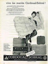 PUBLICITE ADVERTISING 014   1960   CORDOUAL SOBRAL  bagages valises