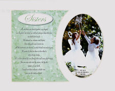 "Sisters Sentimental Keepsake Photo Frame Album Scrap Book Mount 10"" x 8"""