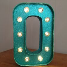 "Letter O Light Up Sign - 10"" Tall - Home Decor - New w/ Tags - LED - Green"