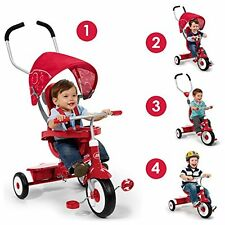 Radio Flyer 4 In 1 Trike Red Kids Infant Tricycles Bike Bicycle Toy Ride On Gift