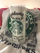 RARE STARBUCKS SINGAPORE LIMITED EDITION TOTE 3 PINS NAME TAG & HAWAII HULA CARD