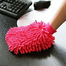 NEW MICROFIBRE CLEANING DUSTER MITT GLOVE POLISHES SHINES HOUSEHOLD CAR WASH 1PC