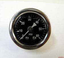 CHROME LIQUID FILLED OIL PRESSURE GAUGE 60 PSI FOR HARLEY BIG TWIN SPORTSTER