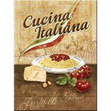 Cucina Italiana Classic Italian Food Bistro Cafe Advert Novelty Fridge Magnet
