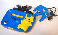 N64/ Nintendo 64 Pikachu Pokemon BLUE & Yellow Console from JAPAN Ⅱ