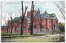 Convent of the Holy Nativity - Fond Du Lac Wisconsin - c1910 WIS Postcard