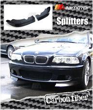 2001-2006 BMW E46 3-Series M-Tech Bumper Carbon Fiber Front Splitter Spoilers