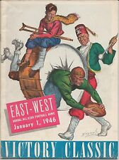 1946 EAST-WEST SHRINE (VICTORY CLASSIC) All-Star Football Program DOAK WALKER