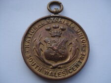 C1910 VINTAGE NATIONAL CYCLISTS UNION SOUTH WALES CENTRE 10 MILES CHA'SHIP MEDAL