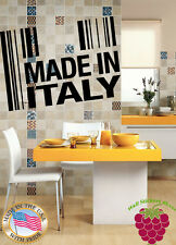 Wall Stickers Vinyl Decal  Made In Italy Italians Europe Food Business z629