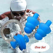 Swimming Waterproof Set Nose Clip Earplugs Silicone Soft Swim Ear Plug With Case