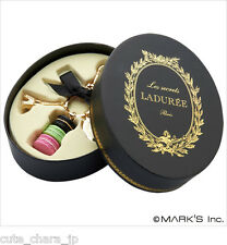 Japan 0087 Accessories LADUREE  Key Chain Ring Macaron Black Original boxed cute