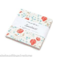 """Moda FABRIC Charm Pack ~ SWEETNESS ~ by Sandy Gervais  42 - 5"""" squares"""
