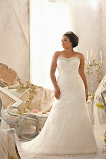 NEW Mori Lee Julietta Plus Size Bridal Gown Wedding Dress ALine 3152 Ivory 18W