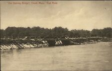Onset Cape Cod MA The Dummy Bridge c1910 Postcard