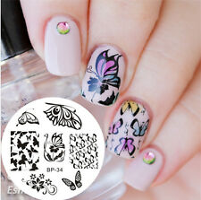 BORN PRETTY Nail Art Stamping Plate Romantic Butterfly Image Template #34