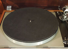 NEW Audiophile Black Leather Turntable Mat Rega Linn Avid Pro-Ject VPI Thorens
