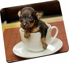 PUPPY IN A TEA CUP - New Mouse Mat - GREAT GIFT- Free Postage