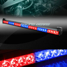 "31.5"" RED & BLUE LED TRAFFIC ADVISOR EMERGENCY WARNING FLASH STROBE LIGHT BAR"