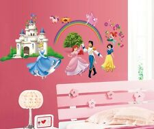 Princess Castle Rainbow Wall Stickers Decals Girl Mural Paper Home Art Decor