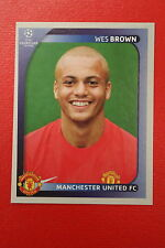 PANINI CHAMPIONS LEAGUE 2008/09 # 15 MANCHESTER UNITED BROWN BLACK BACK MINT!!!