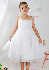 New White Party Pageant Flower Girl Dress 7-8 Years