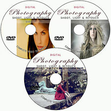 LEARN DIGITAL PHOTOGRAPHY SHOOT,LIGHT,RETOUCH PHOTO TRAINING VIDEO TUTORIALS DVD