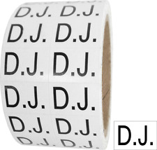 "(1) MSLW34DJ D.J. Labels Roll 3/4"" x 1/2"" In Store Black & White Rectangle Media"