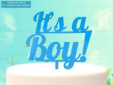 """It's a Boy"" Blue - Baby Shower Cake Topper - Made by OriginalCakeToppers"