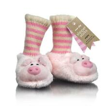 Unisex Baby & Toddler Cute 3D Pink Piglet Slipper Socks To Fit 6-18 Months