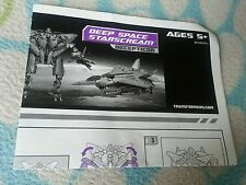 Transformers MOVIE DEEP SPACE STARSCREAM INSTRUCTION BOOKLET ONLY