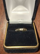 14k Marquise Cut Diamond Engagement Ring With Baguettes