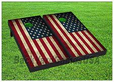 VINYL WRAPS Cornhole Boards DECALS USA Flag BagToss Game Stickers 402
