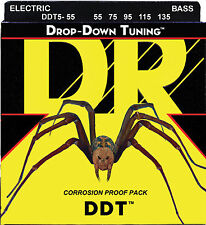 DR DDT5-55 DDT DROP DOWN TUNING BASS STRINGS, HEAVY GAUGE 5's - 55-135