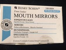 Dental Henry Schein  Mouth Mirror front surface simple stem #5   12/Box Miltex
