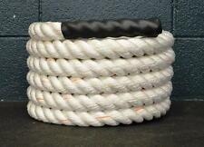 "30' x 1.5"" Poly Battle Rope CrossFit MMA Battling Strength Training Boot Camp"