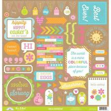 Doodlebug Hello SUnshine This and that stickers sheet 4700 Spring Easter