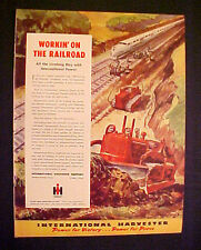 1945 WWII International Harvester Road Tractor Railroad Tracks Construction AD