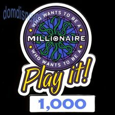 Disney Pin *Who Wants to Be a Millionaire* Play it! - 1,000 Points (Prize Gift)!