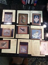 LAVENDER AND LACE CROSS STITCH LOT OF 9 ANGELS
