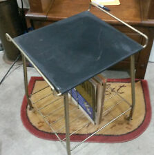 1950's Mid Century Metal Record & Phonograph Stand!  Retro.Steampunk