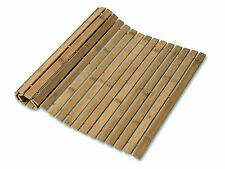 Rectangular Bamboo Slatted Folding Duck Board Bathroom Bath Non Slip Shower Mat.