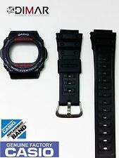 VINTAGE CASIO BEZEL AND STRAP FOR DW-5700-C / DW-5400-C  ORIGINAL CASIO NOS