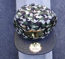 GRIZZLY BEAR GOLD MIND LOGO CAMO APPAREL MENS HAT SNAPBACK