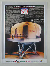 9/1991 PUB REDIFFUSION SIMULATION SIMULATOR CONCEPT 90 THAI AIRWAYS 747-400 AD
