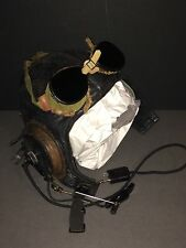 WW2 US Navy Pilot Flying Cap with Head Set Speakers and Goggles Very Nice!