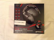 Ps4/xbox headset/mic gioteck Ex-06 Foldable High Def Stereo Headphones New