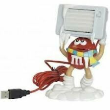M&M Red USB Desktop Soft Blade Fan Keeps U Cool Plug N Play New
