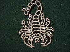 Iron On Patch - Scorpion Black/White